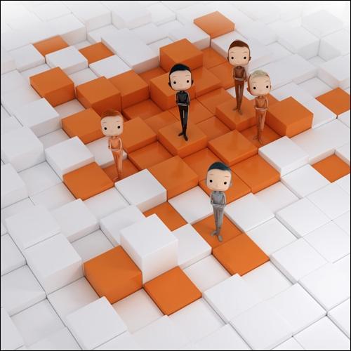 Il s'agit de petits bonshommes en 3D, créé par Jacques Després, qui sont utilisés par une grande marque pour leur publicité. Cette marque, citée en observation sous les résultats, est à votre avis. .