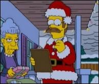 De quelle série animée est tirée cette photo d'un père noël à la peau jaune d'or ?