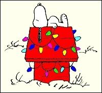 La coolitude incarnée, philosophe et écrivain à ses heures, voici Snoopy le chien qui fête noël, sorti de la BD...
