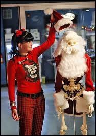La petite chouchou du très sérieux Gibbs, Abby, est ici en compagnie de l'un de ses accessoires de la série pour fêter Noël. Quelle est cette série ?