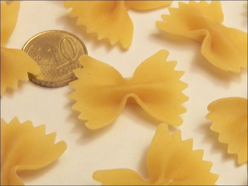 Elles sont en forme de noeud papillon : les  Farfalle . Dans quelle catégorie de pâtes les classe-t-on ?