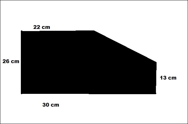 Calculer l'aire de la figure noire :