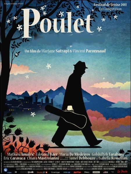 Un joli conte mélancolique et émouvant de Vincent Paronnaud et Marjanne Satrapi (2011), avec Mathieu Almaric, Edouard Baer, Maria de Medeiros ... .