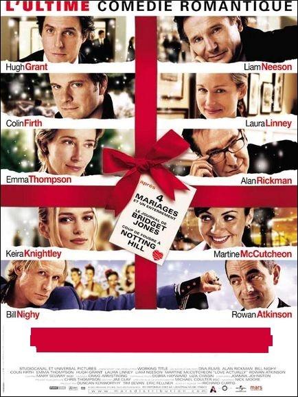 Comédie américaine, sentimentale, drôle et attachamte réalisée par Richard Curtis en 2003 avec Hugh Grant, Bill Nighy , Colin Firth ... .