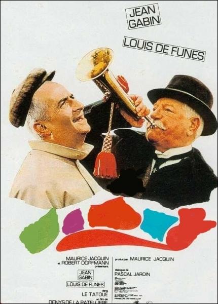 Comédie franco-italienne de Denys de La Patellière (1968) avec Jean Gabin, Louis de Funès, Paul Mercey, Pierre Tornade, Henri Virlojeux ... .