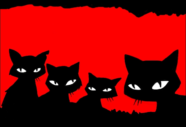 Comment appelle-t-elle les quatre chats ?