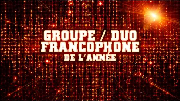 Qui est nominé dans la catégorie groupe/duo francophone ?