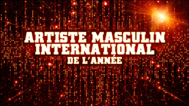 Qui est nominé dans la catégorie artiste masculin international ?
