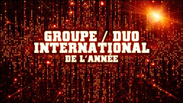 Qui est nominé dans la catégorie groupe/duo international ?