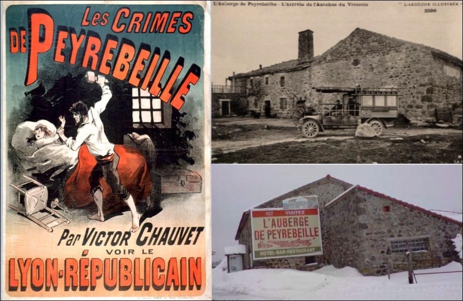 L'auberge de Peyrebeille en Ardèche qui fut le lieu d'une affaire criminelle dans les années 1830, est plus connue au cinéma sous le nom de :