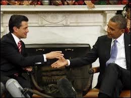 Qui est le nouveau président de la République fédérale du Mexique depuis le 1/12/2012 ?
