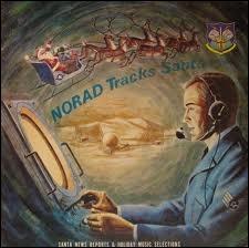 Pour rester chez les militaires, voilà une étonnante affiche de Noël, car on voit le Père Noël sur son traineau dans le ciel, qui dit ?