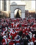 De quoi s'agit-il, tous ces Pères Noël en délégation à New-York ?