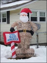 Encore une décoration de Noël pour le jardin, qui semble vraiment mettre en avant le fait que le pays est... ?