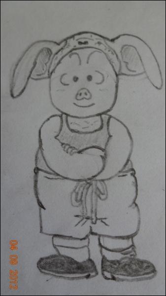 Dans Dragon Ball, comment s'appelle ce cochon ayant la particularité de pouvoir se transformer en ce qu'il veut mais seulement pendant cinq minutes et après un repos d'une minute ?