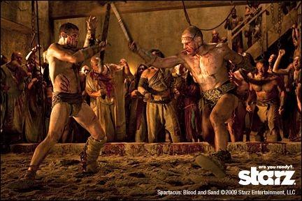 Où va se battre Spartacus après sa première défaite dans l'arène ?