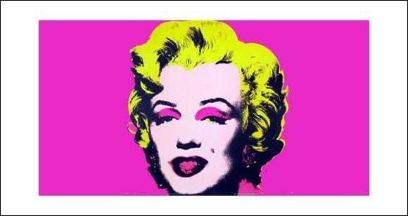 Quel artiste du pop art est l'auteur de  Marilyn Monroe  ?