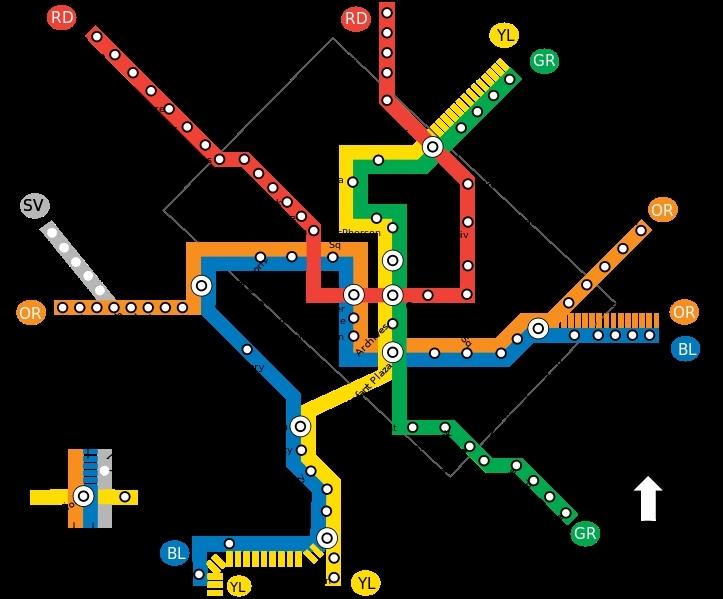 Quelle est la plus ancienne ligne du métro de Washington D. C. (1976) et qui est également la plus longue (51km) ?