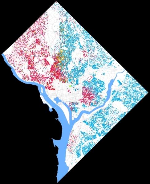 Quels sont les états limitrophes de Washington D. C. ?