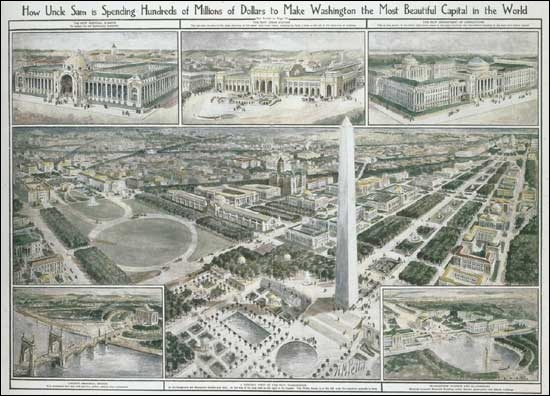 Qui a dessiné les plans de la ville de Washington ?