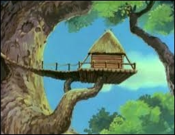 Qui habite dans cette cabane dans les arbres ?