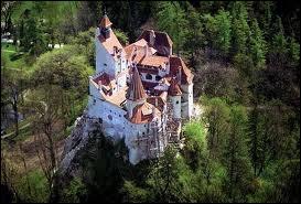 Château roumain en Transylvanie, construit par les chevaliers teutoniques. De nos jours il est associé au comte Dracula.
