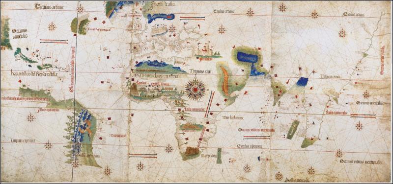 En quelle année le traité de Tordesillas partage-t-il le monde entre l'Espagne et le Portugal ?