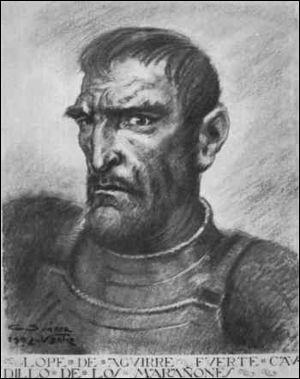 Le conquistador Lope de Aguirre, surnommé El Loco (le fou), incarne ce grand mythe du Nouveau Monde. Comment se nomme-t-il ?