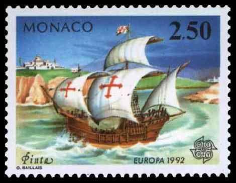 Lors de son premier voyage, Colomb utilise deux caravelles, inventées début XVe siècle, et une nef. Quels sont les noms de ces navires ?