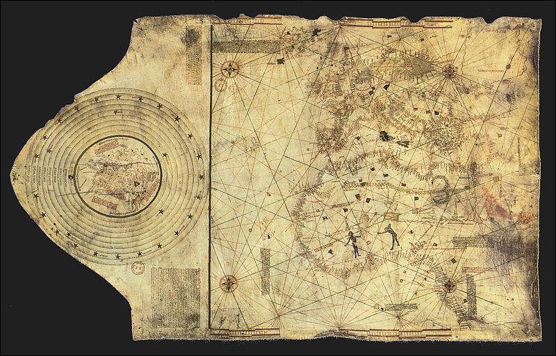 Que cherchait Christophe Colomb ? (ci-contre : carte réalisée par les frères Colomb vers 1490)
