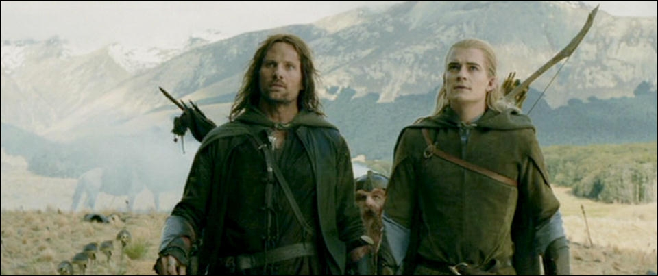 Qui forme le trio (Homme, Elfe & Nain) qui a tout donné pour défendre la terre du milieu et protéger Frodon ?