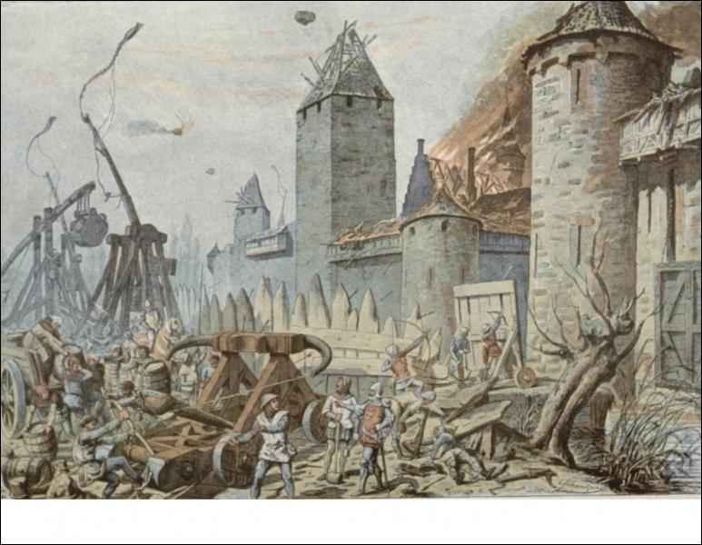 Pour assiéger les forteresses, les croisés utilisent des échelles, des béliers et des trébuchets qui sont ... ? (plusieurs bonnes réponses)