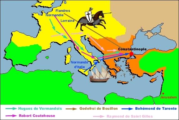 La première croisade se déroule à la fin du XIème siècle : combien de temps dure-t-elle ?
