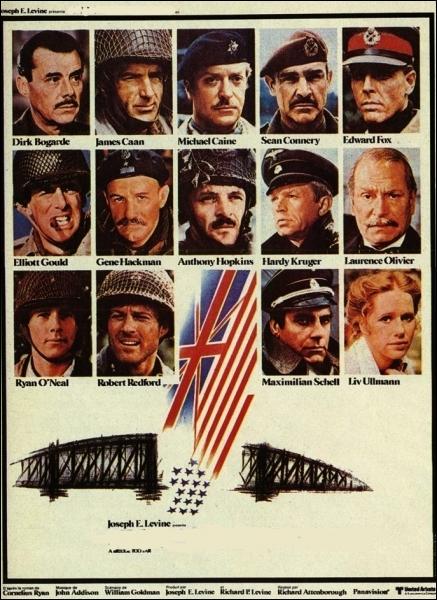 Un casting prestigieux pour ce film britannique de guerre réalisé par Richard Attenborough en 1977, avec Ryan O'Neal, Michael Caine, Edward Fox... .