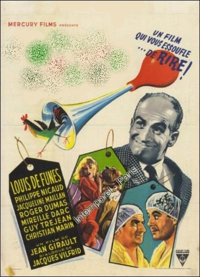 Un vaudeville désopilant réalisé par Jean Girault en 1963, où l'on retrouve Louis de Funès, Jacqueline Maillan, Mireille Darc et Christian Marin récemment disparu ... .