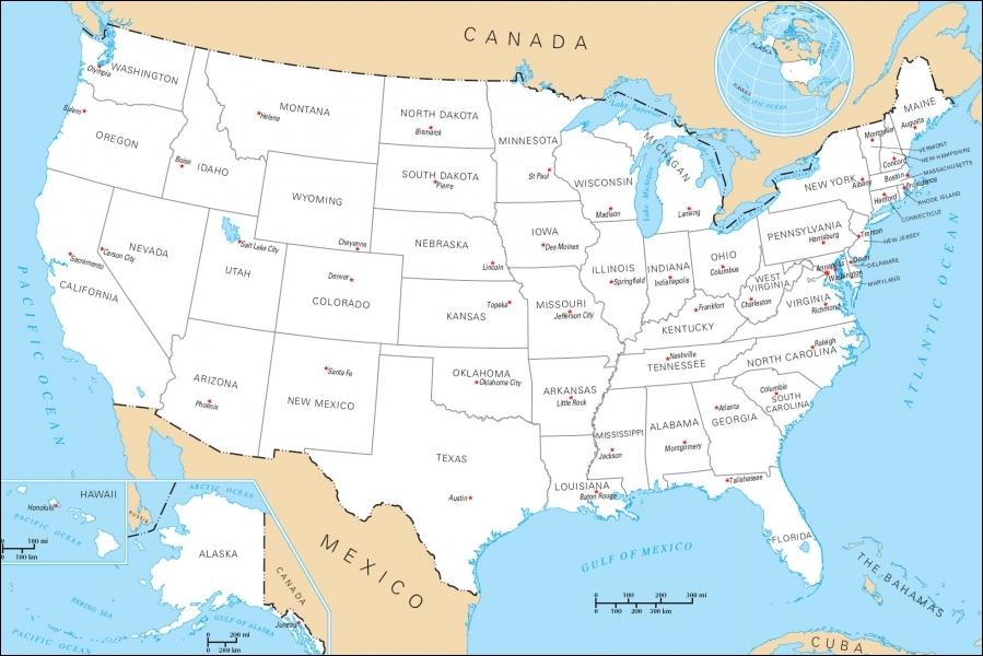 Quelle est la capitale des Etats-Unis ?