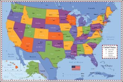 Combien y a-t-il d'Etats aux Etats-Unis ?