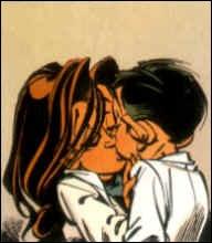 Dans quel album de  Spirou et Fantasio  Spirou et la fille de Vito Cortizone s'embrassent-ils ?