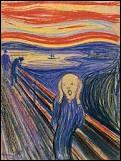 Quel peintre expressionniste victime d'angoisses a peint Le cri ?