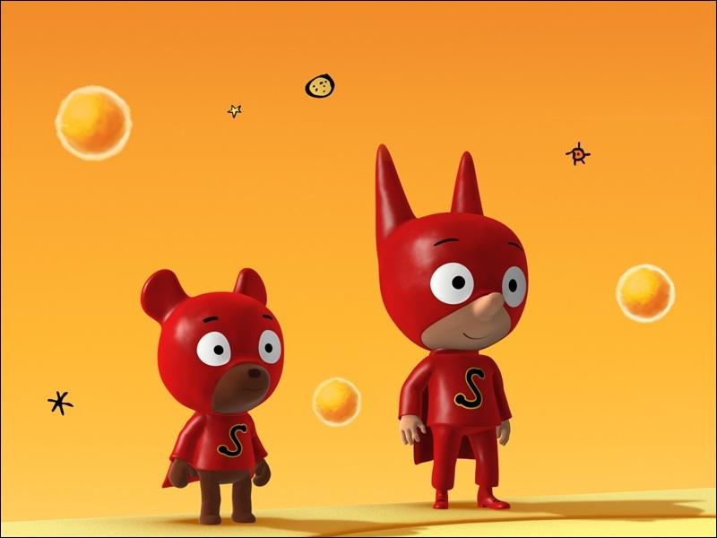 Dans quel dessin animé pouvez-vous suivre les aventures de ce héros cosmique et de son nounours ?