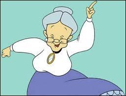 Mémé est pleine d'énergie mais dans quel dessin animé peut-on la voir ?