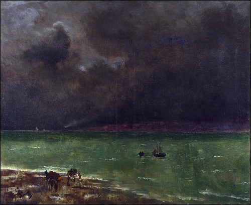 Qui a peint Orage à Honfleur en 1890 ?