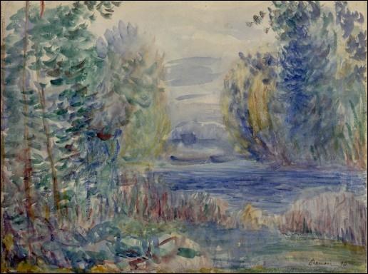 Qui a peint ce paysage en 1890 ?