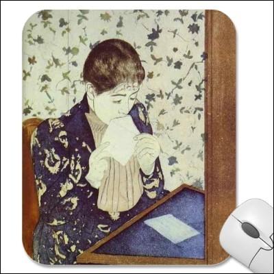 Qui a peint La lettre en 1890 ?