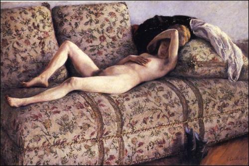 Qui a peint Nu sur un canapé en 1890 ?