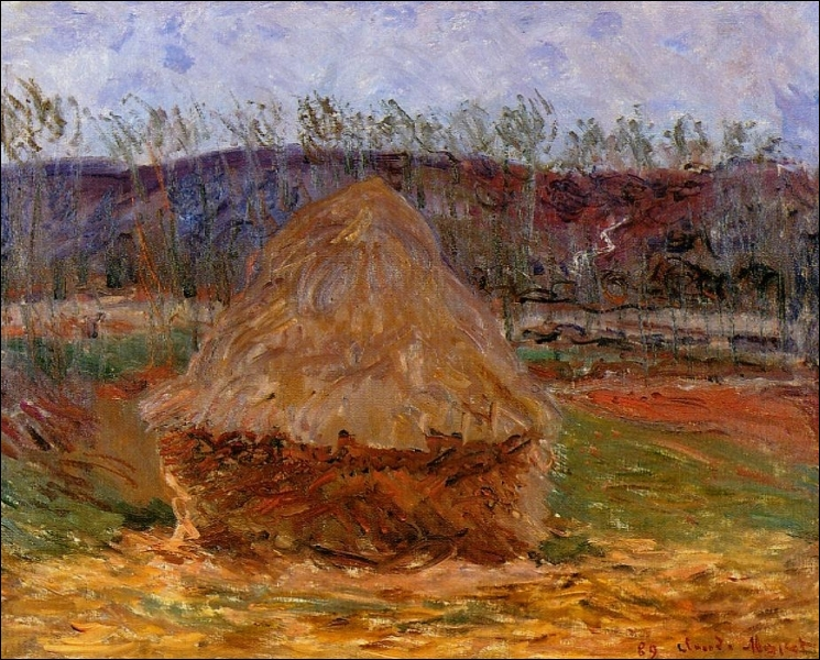 Qui a peint Meule à Giverny en 1890 ?
