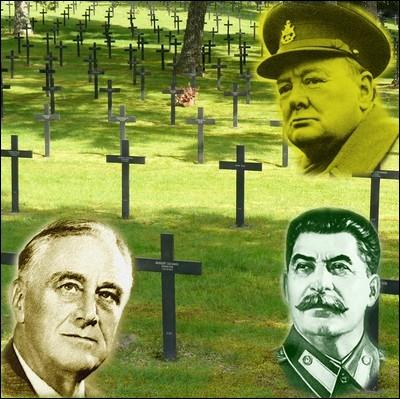 Lequel de ces protagonistes de la conférence de Yalta est l'auteur de cette phrase cruelle :  La mort d'un homme est une tragédie. La mort d'un million d'hommes est une statistique  ?