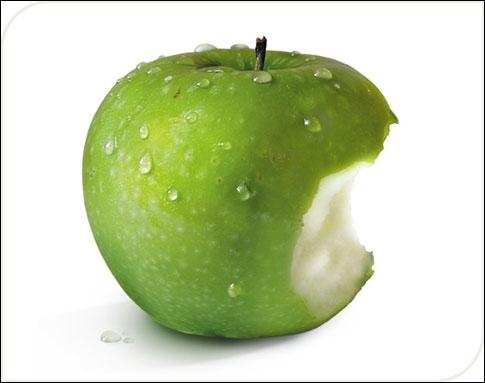 Comment dit-on  une pomme  en anglais ?