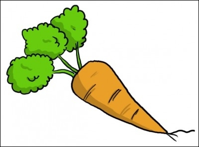 Comment dit-on  une carotte  en anglais ?