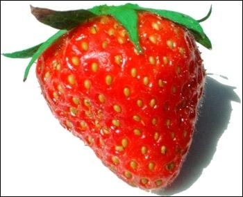 Comment dit-on  une fraise  en anglais ?